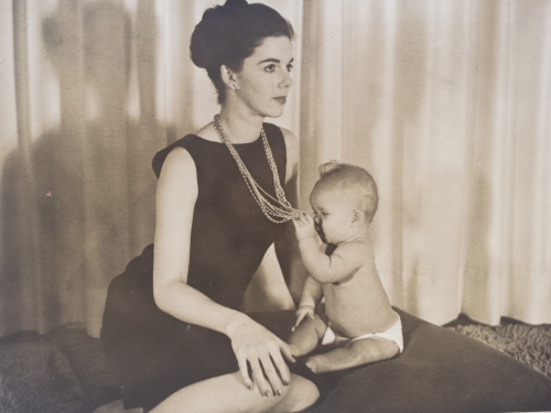Alice Anne (Severson) Parker with Infant Daughter April